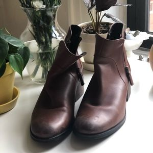 Cole Haan ankle boots in brown leather